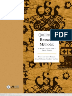 Qualitative Research Methods a Data Collector s Field Guide