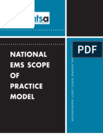 National EMS Scope of practice