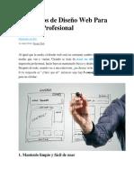 5 Consejos de Diseno Web Para Un Sitio Profesional