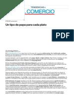 Un Tipo de Papa Para Cada Plato - Diario El Comercio [27 Jun 2014]
