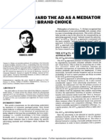 How Adv Infl Consumers Brand Choice