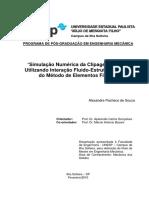 Simulação Numérica Da Clipagem Arterial Utilizando Interação Fluido-Estrutura Através Do Método de Elementos Finitos - Alexandre Pacheco de Souza - Dissertação - 2010