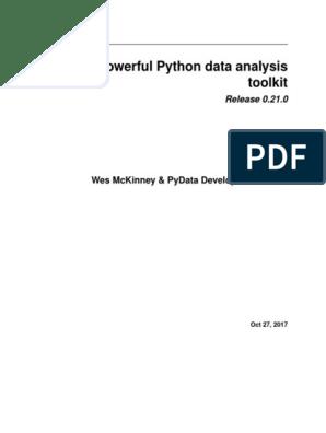 Pandas - Powerful Python Data Analysis  pdf | Computer Programming