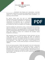 Discurs de Roger Torrent, el dia de la detenció de Puigdemont a Alemanya