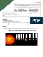 EVALUACION DIAGNOSTICA ciencias 4º básico 2017