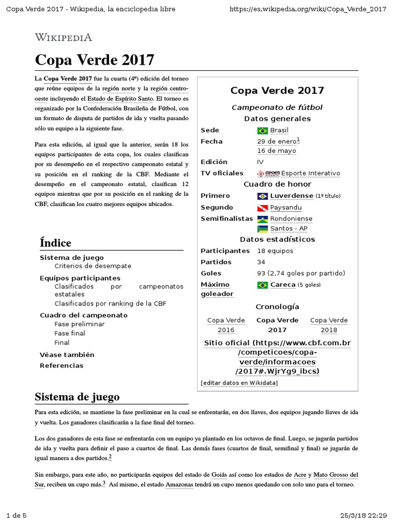 Copa Verde 2017