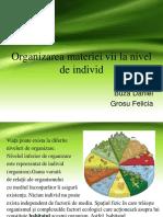 Organizarea Materiei Vii La Nivel de Individ, Populatie