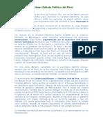 El Primer Debate Politico Del Peru
