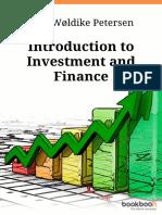 Introducción a la inversión y las finzanzas (en inglés)