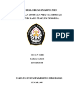 MAKALAH PERLINDUNGAN KONSUMEN PADA TRANSPORTASI ONLINE (STUDI KASUS PT. GOJEK INDONESIA)
