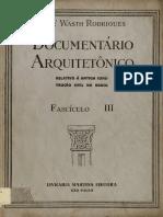 Arquitetura documentário - Fascículo III