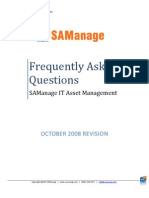 SAManage Frequently Asked Questions