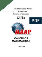 Guia Maap Cálculo I-matematica i 2016