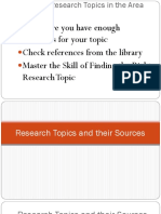 5ppt Research Topics and Their Sources-final