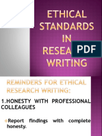 Ethical Standards in Research Writing