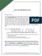 CARTA DE PRESENTACIÓN  WALOM2018