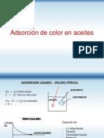 Adsorción de Color en Aceites