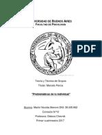 Trabajo Practico de Teoria y Tecnica de Grupos - Percia
