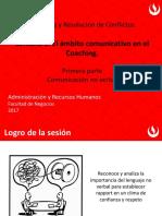 Unidad Nº 2 El Ámbito Comunicativo en El Coaching Semana 5 Cnoverbal1