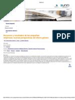 Recursos y Resultados de Las Pequeñas Empresas