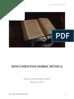 Documentos e discursos sobre música