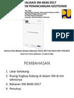 Sosialisasi Sni 8640-2017 Geoteknik