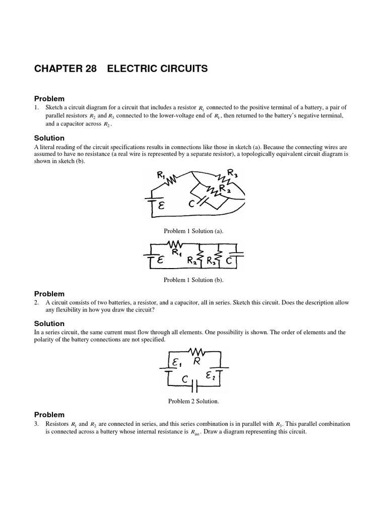 Circuits Series And Parallel Capacitor Circuit With Capacitors A Battery