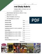 lesson 5 - novel study rubric
