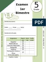 5to Grado - Examen Bloque 1 (2017-2018)