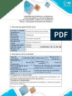 Guía de Actividades y Rúbrica de Evaluación - Tarea 1 - Reconocer Escenario de Práctica