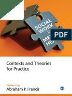 Social Work in Mental Health settings