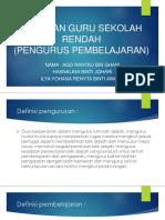 Peranan Guru Sekolah Rendah ( Pengurus Pembelajaran ) Edu3083