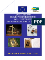 Annuaire 2008 des jeunes chercheurs de l'Université des Antilles et de la Guyane