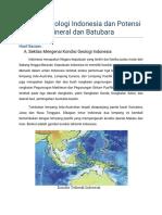 169565546 Kondisi Geologi Indonesia Dan Potensi Mineral Dan Batubara