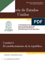 Unidad 4 El establecimiento de la República (Avances)