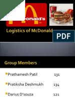 Logistics of MC Donald Final