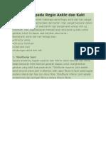 Biomekanik Pada Regio Ankle Dan Kaki