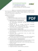 BOTA-FORA EM TERRAPLENAGEM - TERMO DE REFERENCIA LIC AMBIENTAL
