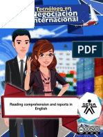 Material Reading Comprehension and Reports in English