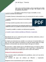 Conducción Del Agua - Tuberías Presentación
