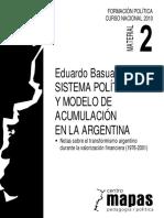 Sistema Político y Modelo de Acumulación (Basualdo)