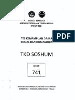SOAL TKD SOSHUM  2014 + Kunci Jawaban