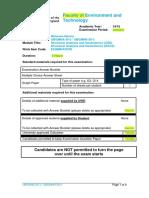 Ubgmha-30-3 and Ubgmhr-30-3 January 2015 Exam