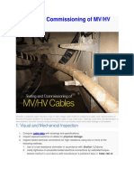 Testing and Commissioning of MV Cables