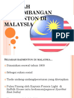 Sejarah Perkembangan Badminton Di Malaysia