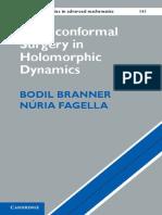 Branner B., Fagella N.-quasiconformal Surgery in Holomorphic Dynamics-CUP (2014)