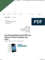 Cara Memperbaiki Invalid IMEI Dan SIM Card Tidak Terdeteksi Acer Z200 _ ErwinZilla