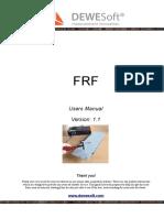 FRF Modal Manual v1.1