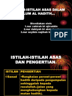 Istilah-Istilah Asas Dalam Ulum Al Hadith