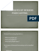 Techniques of Demand Forecasting
